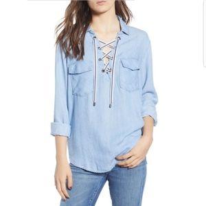 Rails matea lace up shirt